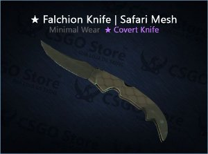 ★ Falchion Knife | Safari Mesh (Minimal Wear)