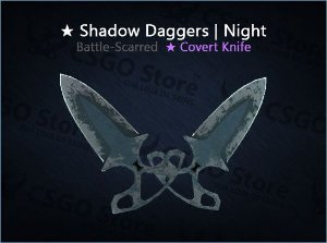 ★ Shadow Daggers | Night (Battle-Scarred)