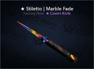 ★ Stiletto Knife | Marble Fade (Factory New)