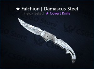 ★ Falchion Knife | Damascus Steel (Field-Tested)