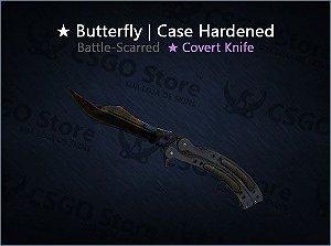★ Butterfly Knife | Case Hardened (Battle-Scarred)