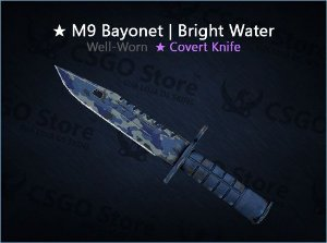 ★ M9 Bayonet | Bright Water (Well-Worn)