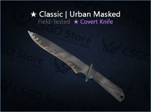 ★ Classic Knife | Urban Masked (Field-Tested)