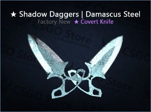 ★ Shadow Daggers | Damascus Steel (Factory New)