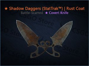 ★ Shadow Daggers (StatTrak™) | Rust Coat (Battle-Scarred)