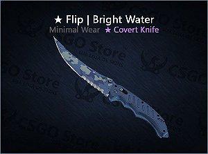 ★ Flip Knife | Bright Water (Minimal Wear)