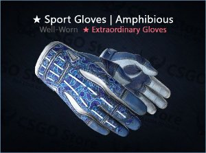 ★ Sport Gloves | Amphibious (Well-Worn)