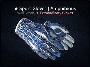 ★ Sport Gloves | Amphibious (Well-Worn)