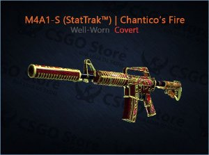 M4A1-S (StatTrak™) | Chantico's Fire (Well-Worn)