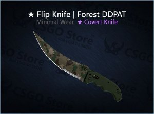 ★ Flip Knife | Forest DDPAT (Minimal Wear)