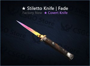 ★ Stiletto Knife | Fade (Factory New)