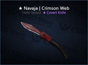 ★ Navaja Knife | Crimson Web (Field-Tested)