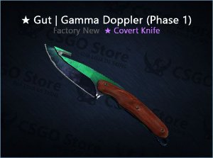 ★ Gut Knife | Gamma Doppler Phase 1 (Factory New)