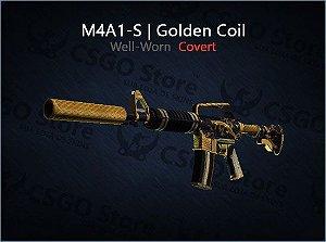 M4A1-S | Golden Coil (Well Worn)