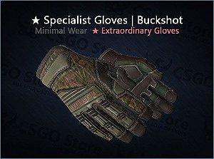 ★ Specialist Gloves | Buckshot (Minimal Wear)