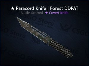 ★ Paracord Knife | Forest DDPAT (Battle-Scarred)