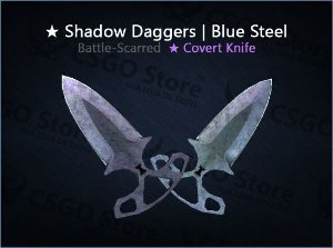 ★ Shadow Daggers | Blue Steel (Battle-Scarred)