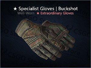 ★ Specialist Gloves | Buckshot (Well-Worn)