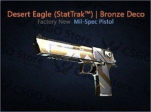 Desert Eagle (StatTrak™)   Bronze Deco (Factory New)