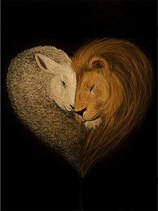 Cordeiro e leão