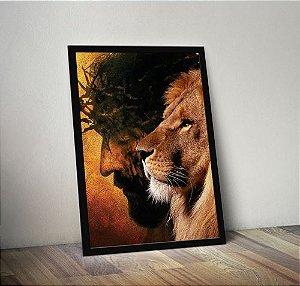Jesus leão novo - Emoldurado