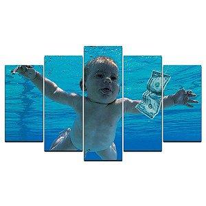 Baby Nirvana - Quadro Mosaico 5 telas em Canvas