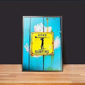Gone surfing - Emoldurado