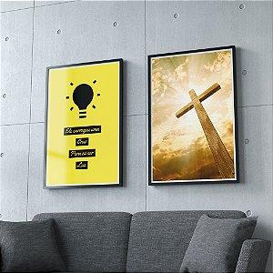 Ele carregou uma cruz para eu ser luz - KIT 2 QUADROS