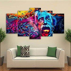Einstein -  5 Telas Canvas