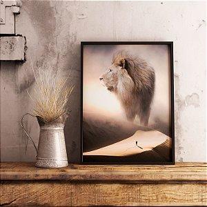 Leão de juda no deserto - Emoldurado