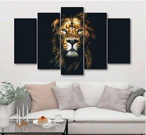 Black Lion - 5 Telas Canvas