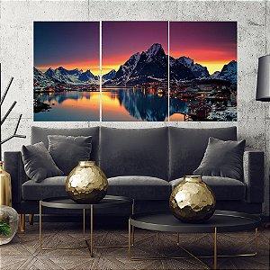 Paisagem  - 3 telas Canvas