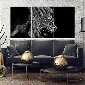 Lion Black  - 3 telas Canvas
