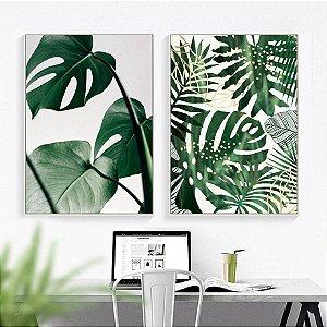 Folhas Verdes - 2 Quadros