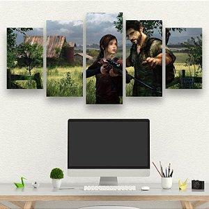 The Last Of Us - Quadro Mosaico 5 telas em Canvas