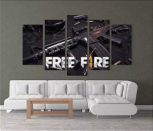 FREE FIRE - 5 Telas Canvas