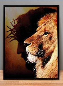 QUADRO JESUS E LEÃO ANTIGO