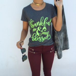 T-shirt Thankful and Blessed