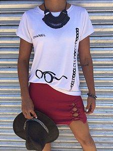 T-shirt Chanel óculos