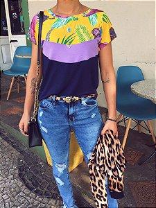 T-shirt Floral Lavanda