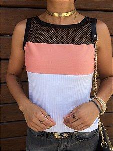 T-shirt Regata com telinha