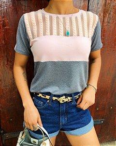 T-shirt Tule Rosa