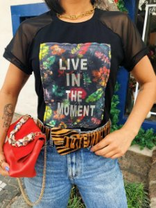 T-shirt Viva o momento