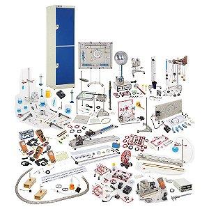 Unidade Mestra para Física Geral, com armário, multicronômetro digital e sensores