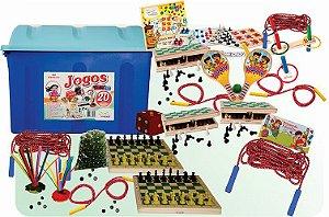 Baú de Jogos com 20 peças
