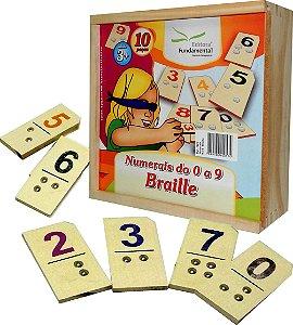 Numerais de 0 a 9 em Braille