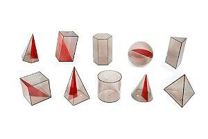 Sólidos Geométrico em Acrílico - 10 peças