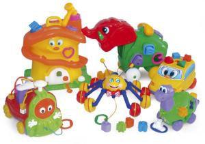 Kit Psicodiversão com 06 brinquedos em plástico