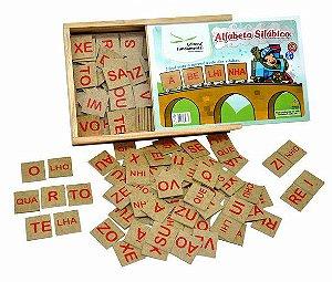 Alfabeto Silábico com 320 peças em mdf
