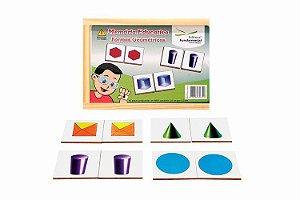 Memória Educativa Formas Geométricas - 40 peças